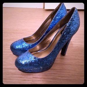 Shoes - Blue sparkle heals